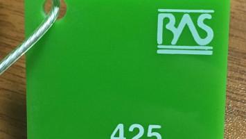 Yeşil Renk Pleksiglas BAS-425 Akpolimer 30143