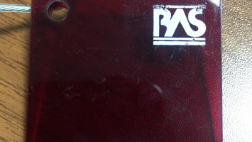 Elektronik Kırmızı Pleksiglas BAS-K145 Akpolimer 2110