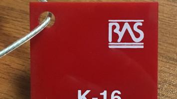 Kırmızı Renk Pleksiglas BAS-K16 Akpolimer 20183