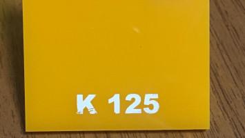 Sarı Renk Pleksiglas BAS-K125 Akpolimer 50251
